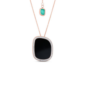 Кулон Green Agate With chain   Black Jade Roberto Coin