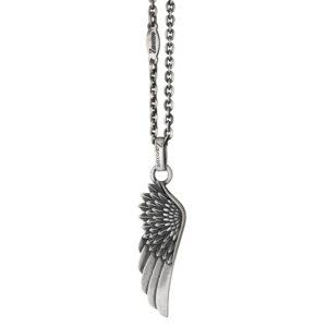 Подвеска из серебра с кулоном крыла