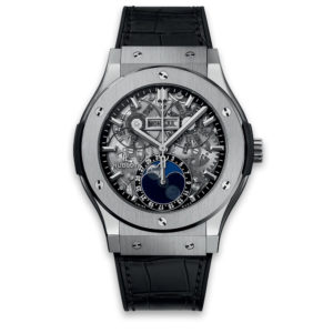Часы Hublot Classic Fusion Aerofusion Moonphase Titanium 45mm