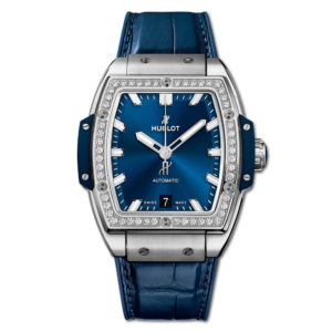 Часы Spirit of Big Bang Titanium Blue Diamonds 665.NX.7170.LR.1204 Hublot