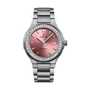 Hublot Classic Fusion Titanium Pink Diamond Bracelet 568.NX.891P.NX.1204